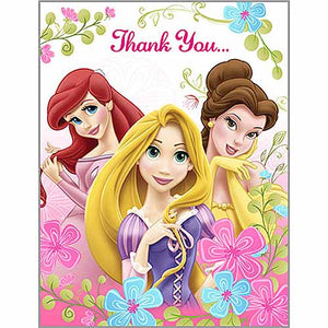 Disney Princess Party Supplies - Postcard Thank You Notes