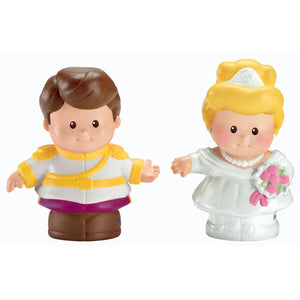 Disney Princess Toys - Cinderella and Prince Charming Little People 2-Pack