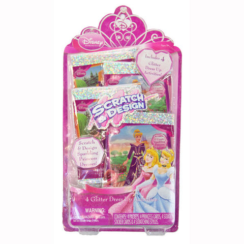 Disney Princess Toys - Scratch and Design Activity