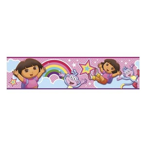 Dora the Explorer Bedroom Decor - Self Stick Dora the Explorer Wall Border