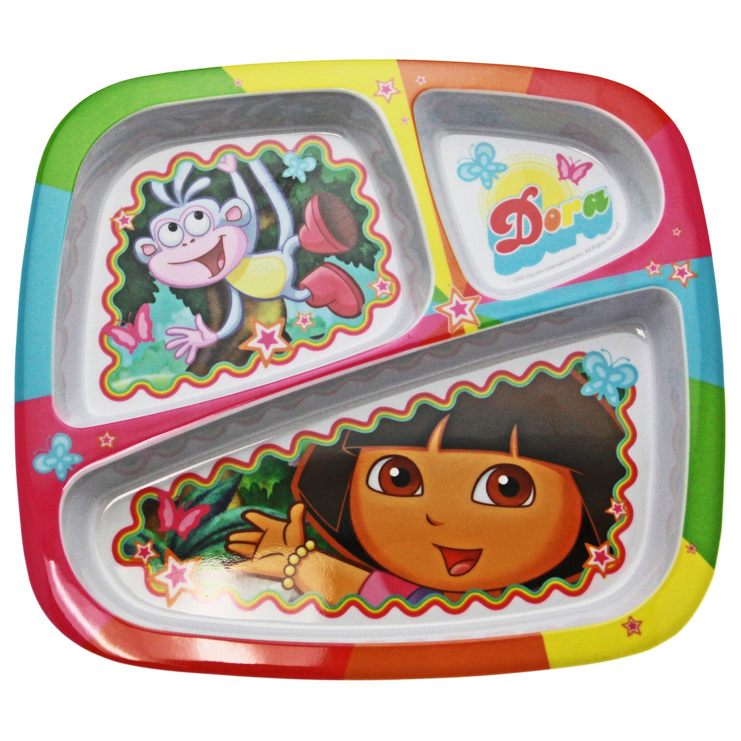 Dora the Explorer Dinnerware - 3-Section Tray