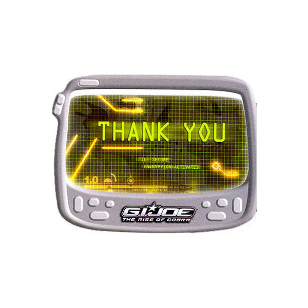 G.I. Joe Party Supplies - Thank You Notes