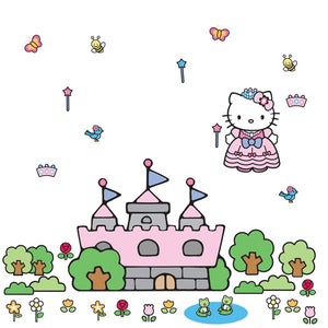 Hello Kitty Bedroom Decor - Princess Castle Giant Wall Decal