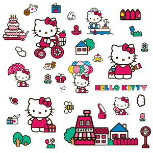 Hello Kitty Bedroom Decor - World of Hello Kitty Wall Decals