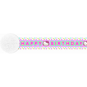 Hello Kitty Party Supplies - 30' Crepe Streamer