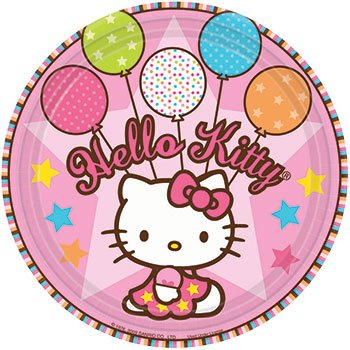 "Hello Kitty Party Supplies - 7"" Dessert Plates"