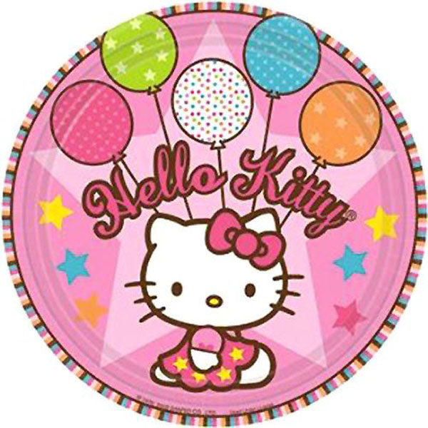 "Hello Kitty Party Supplies - 9"" Dinner Plates"