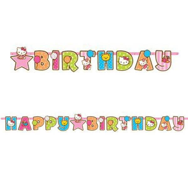 Hello Kitty Party Supplies - Add-an-Age Birthday Banner