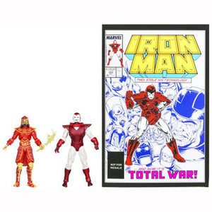 Iron Man Action Figures - Silver Centurion Vrs. Mandarin 2-Pack with Comic Book