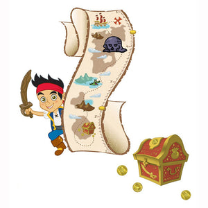 Jake and the Never Land Pirates Bedroom Decor - Growth Chart Wall Decal