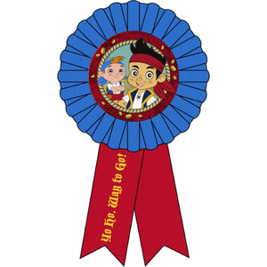 Jake and The Never Land Pirates Party Supplies - Award Ribbon