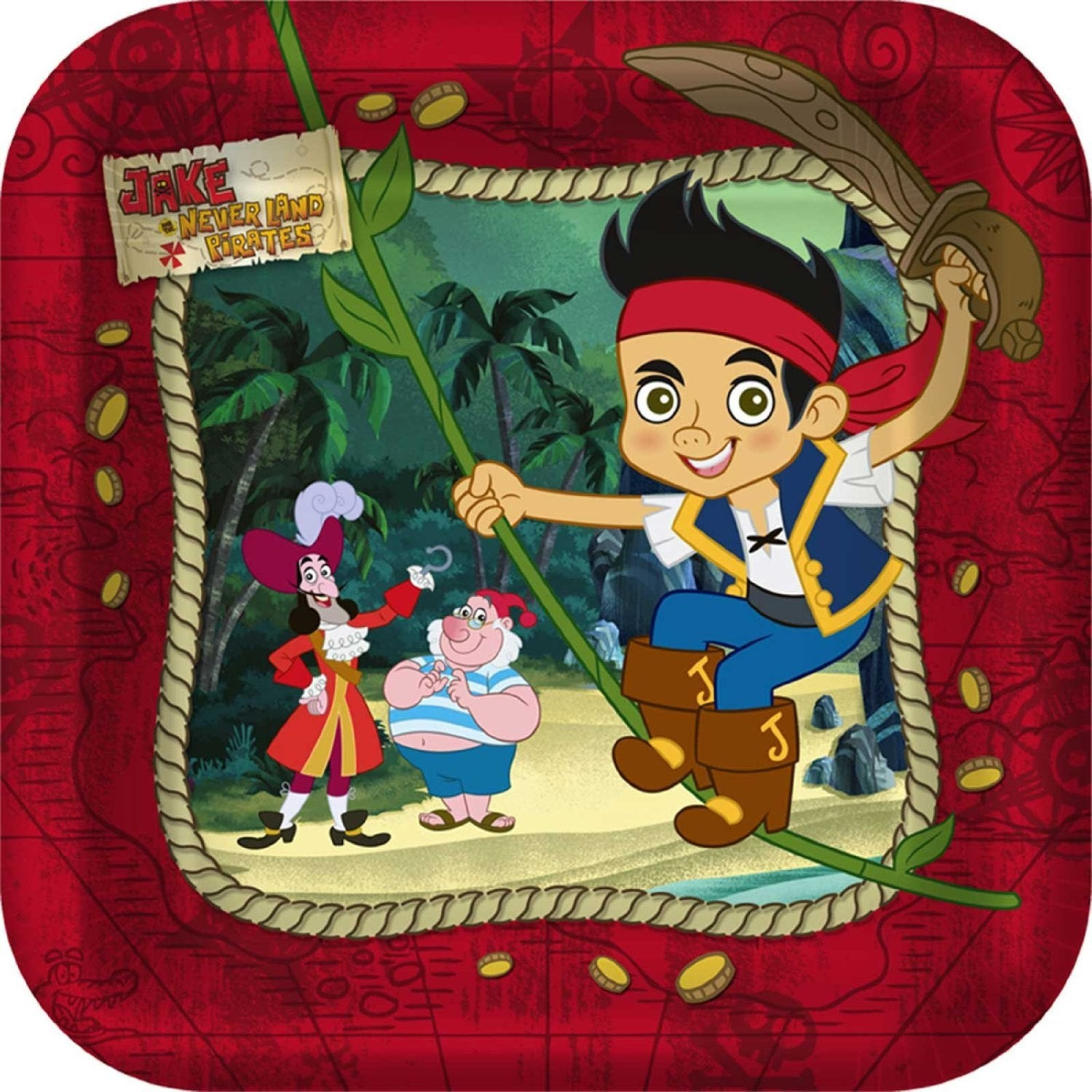 Jake and the Never Land Pirates Party Supplies - Dessert Plate