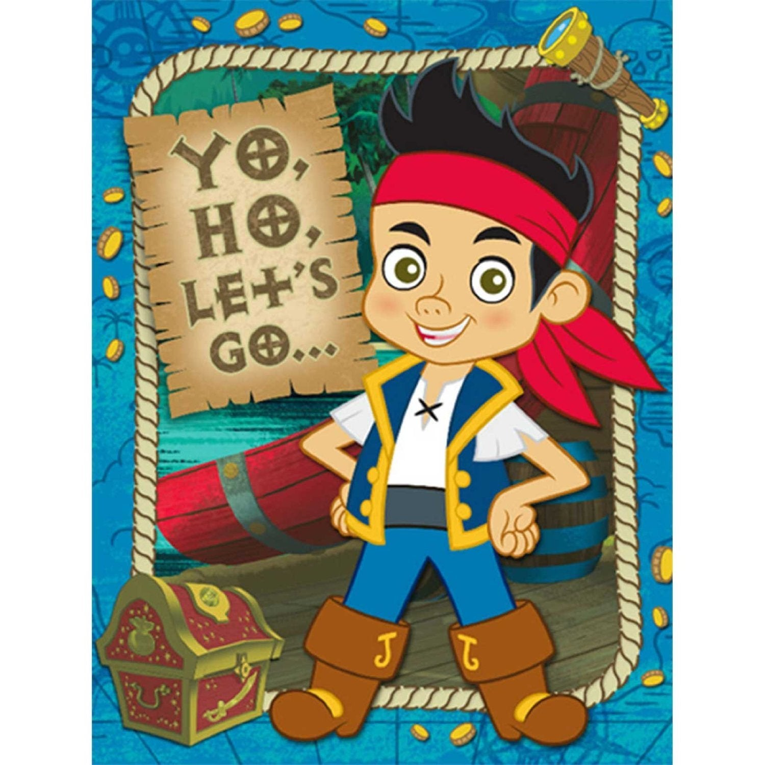 Jake and The Never Land Pirates Party Supplies - Invitations