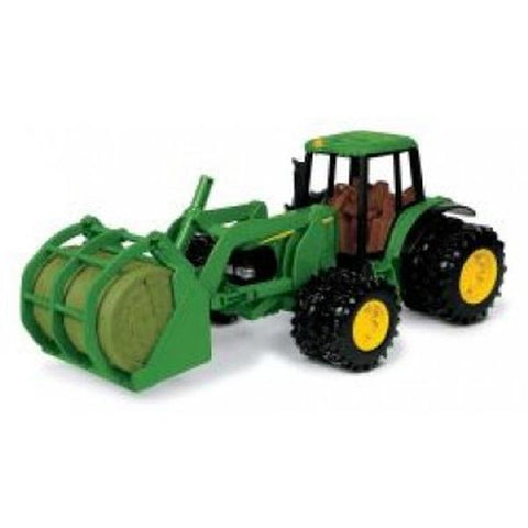"John Deere Toys - 8"" 7220 Tractor with Bale Mover"