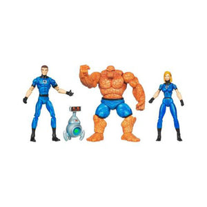 Marvel Action Figures - Fantastic Four Invisible Woman, Mr. Fantastic, Thing with H.E.R.B.I.E