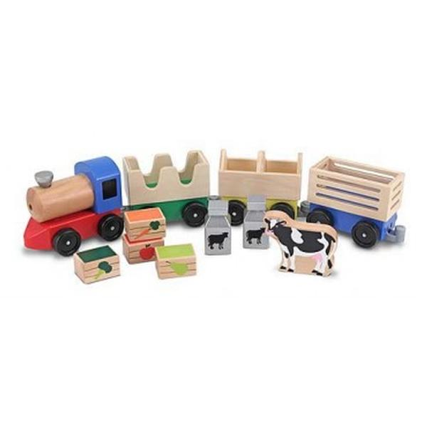 Melissa & Doug - Farm Train Wooden Preschool Toy