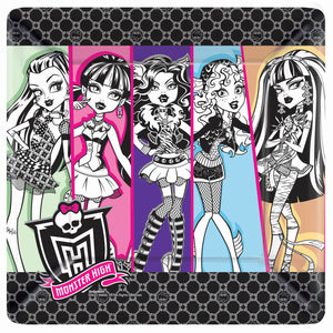 Monster High Party Supplies - 10 inch Dinner Plates