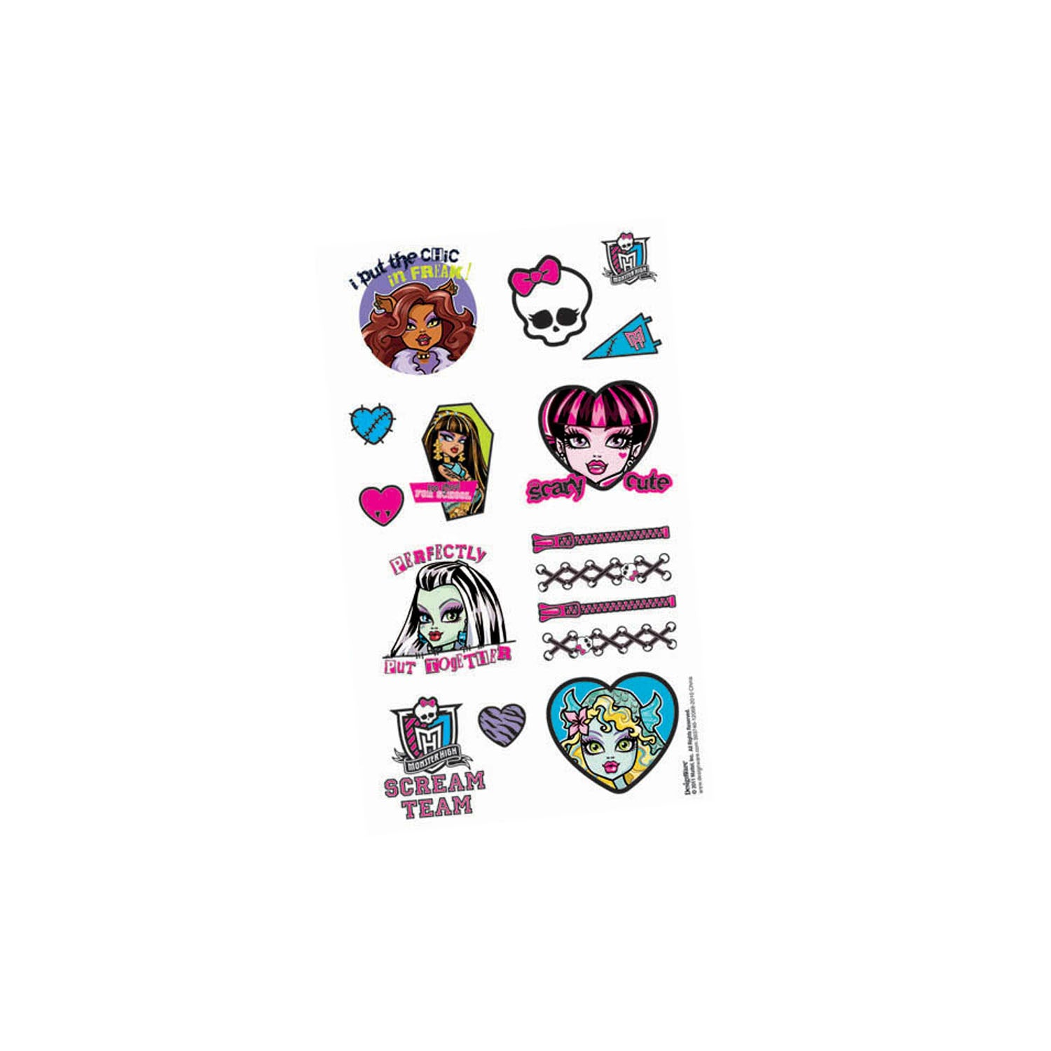 Monster High Party Supplies - Tattoos