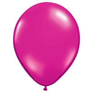Party Supplies - Magenta Latex Balloons