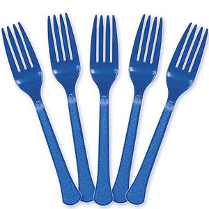 Party Supplies - Marine Blue Forks