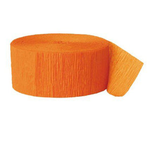 Party Supplies - Orange Party Streamer