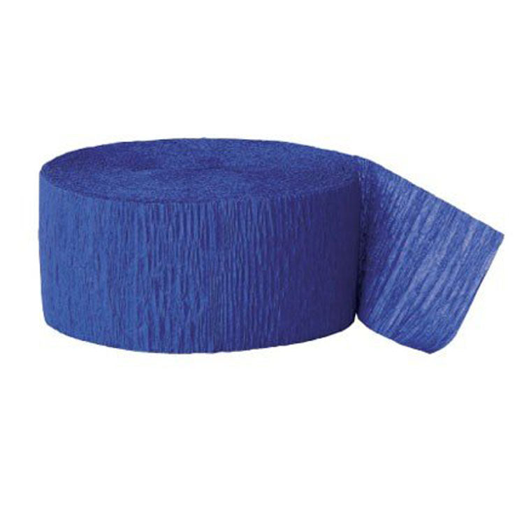 Party Supplies - Royal Blue Streamer
