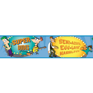 Phineas & Ferb Bedroom Decor - Phineas and Ferb Wall Border