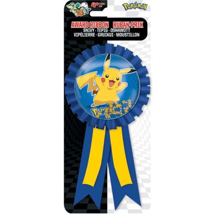 Pokemon Party Supplies - Confetti Pouch Award Ribbon