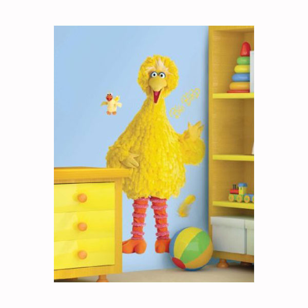 Sesame Street Bedroom Decor -  Big Bird Giant Wall Decal