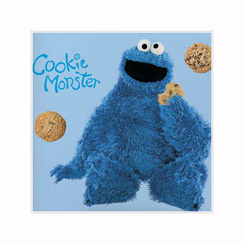 Sesame Street Bedroom Decor - Cookie Monster Giant Wall Decal