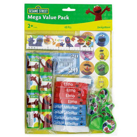 Sesame Street Party Supplies - 48 Piece Party Favor Pack