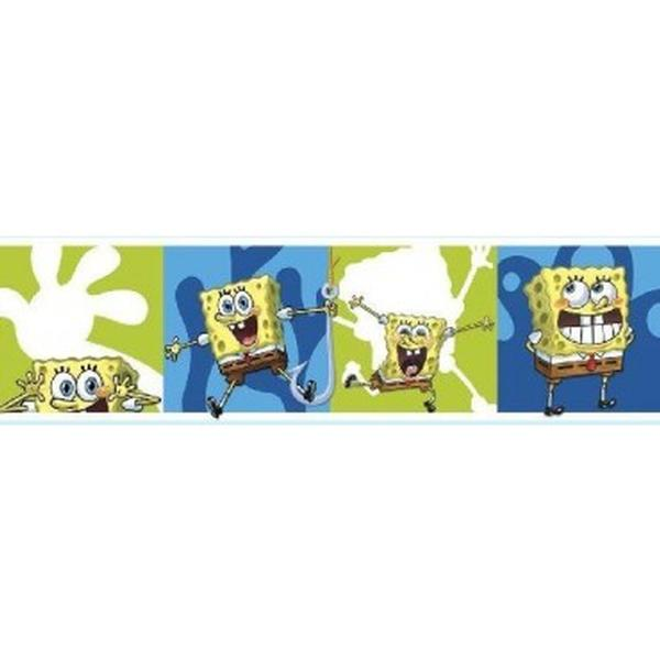 SpongeBob Squarepants Bedroom Decor - Self Stick SpongeBob SquarePants Border