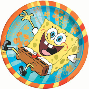 "SpongeBob SquarePants Party Supplies - 9"" Round Dinner Plates"