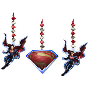 Superman Party Supplies - Dangler Decorations