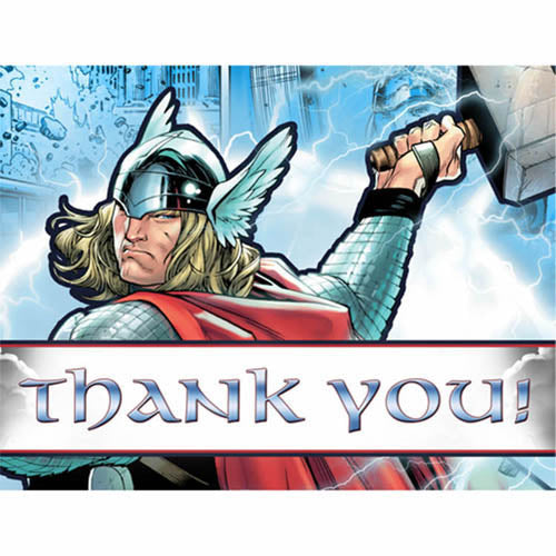 Thor Party Supplies - Postcard Thank You Notes