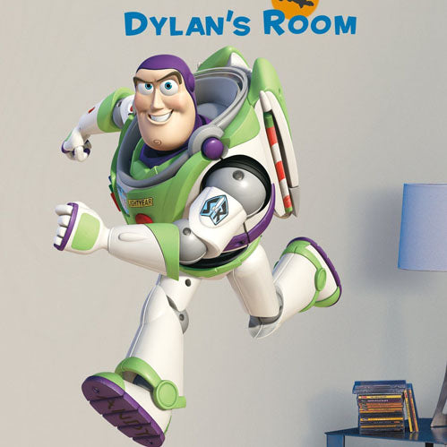 Toy Story Bedroom Decor - Buzz Lightyear Giant Wall Decal with Alphabet