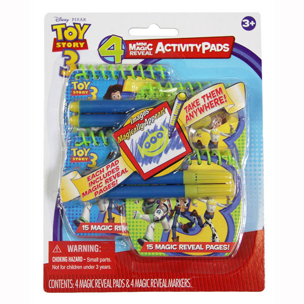 Toy Story Toys - Magic Reveal Activity Mini Fun Pad 4-Piece