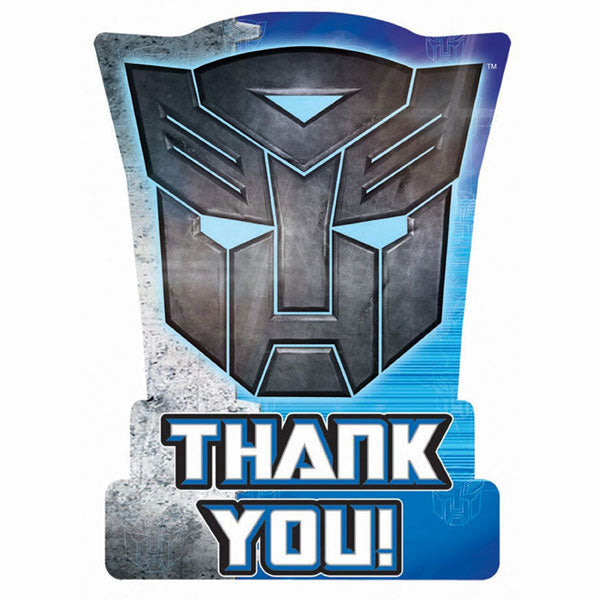 Transformers Party Supplies - Postcard Thank You Cards
