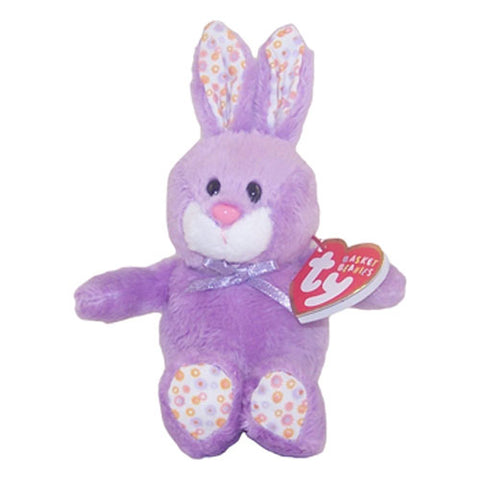 Ty Basket Beanies - Bloom the Purple Bunny