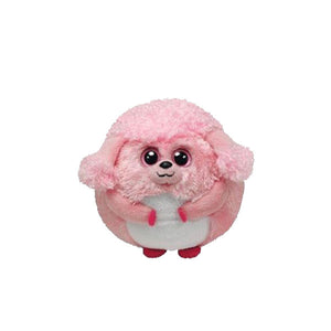 Ty Beanie Ballz - Lovey the Pink Poodle Medium
