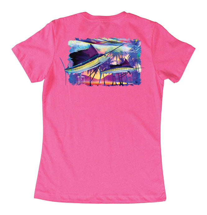 ca283086e1012d Womens Two Sails Underwater T-Shirts