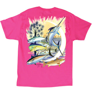 Palmetto Moon SS T-Shirts \\ Hot Pink