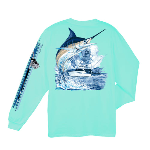 Marlin Boat LS T-Shirt \\ Mint