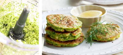 Cheesy green fritters