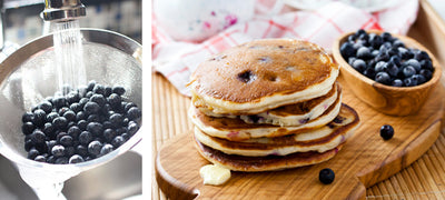 Recipe: Wholewheat blueberry crumpets