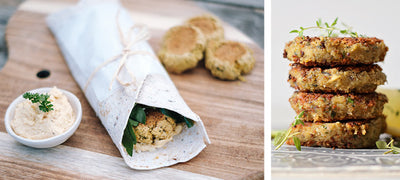 Plant-based falafel and hummus wrap