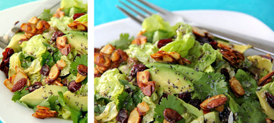 My delish avo, feta and nut salad