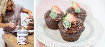Double chocolate superfood cupcakes
