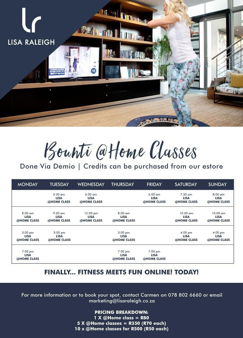 Lisa Raleigh @home Bounti classes