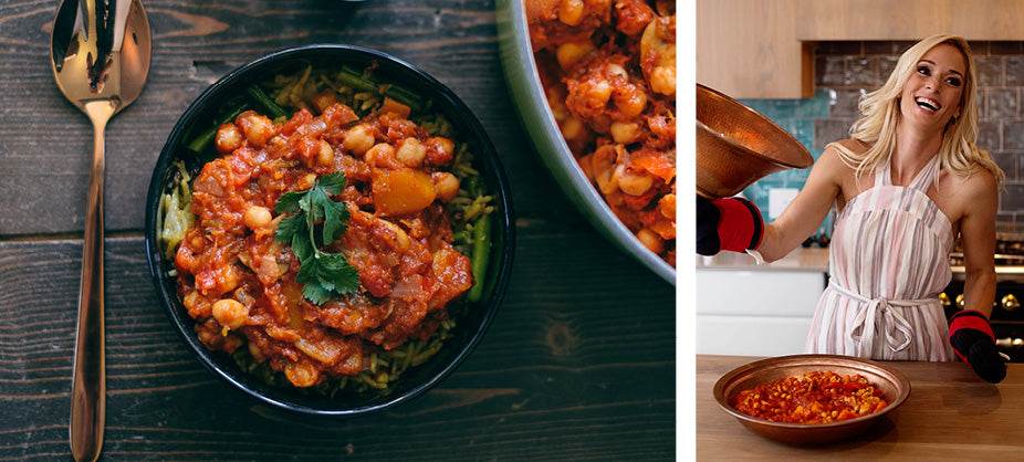 Lisa Raleigh's spicy butternut and chickpea tagine